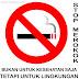 Simbol Himbauan dan Larangan Merokok dan Penggunaan Kantong Plastik