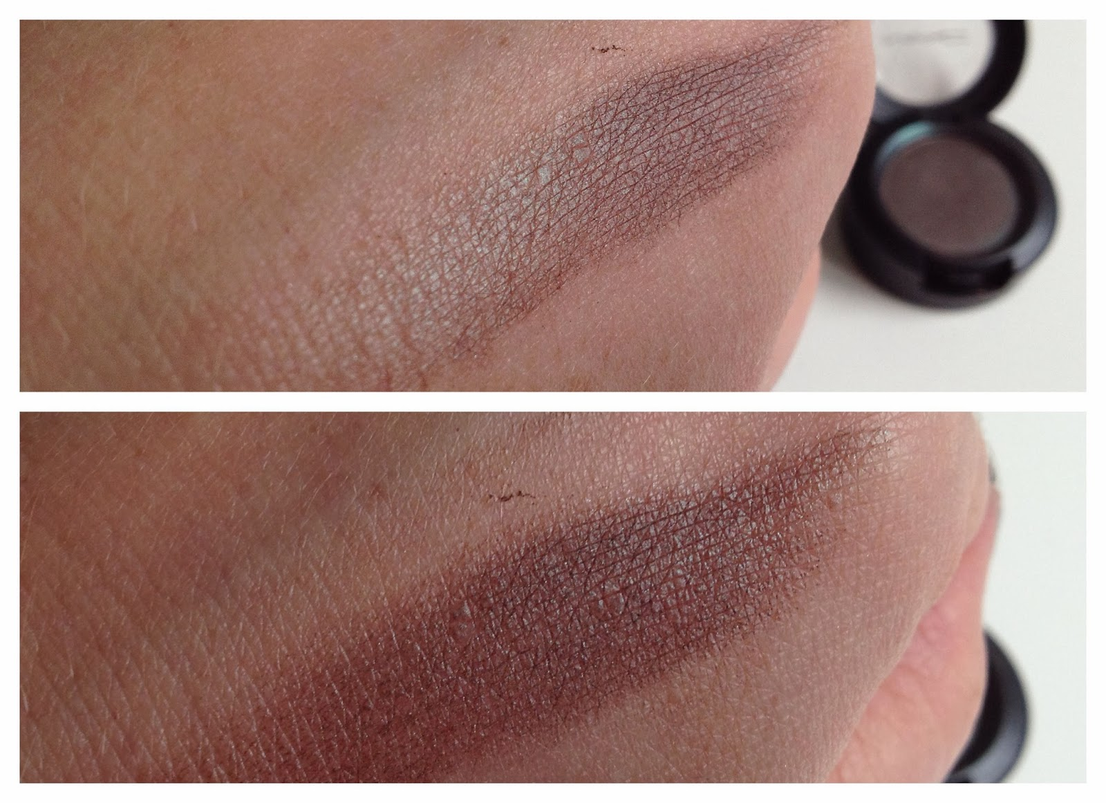 MAC Club Eyeshadow duo chrome effect swatch