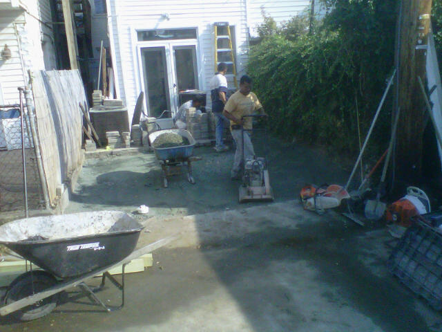 Removed Rear Wall/fence And Transformed This Backyard Into A Paver Parking  Pad. Come And Go As You Please In The City Always A Parking Spot.