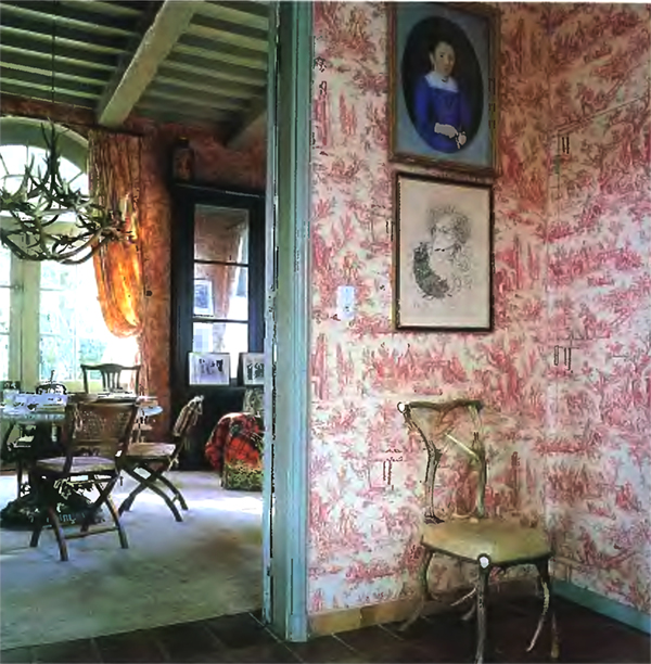 The enduring charm of toile de jouy paint the wall - Toile de jouy decoration ...