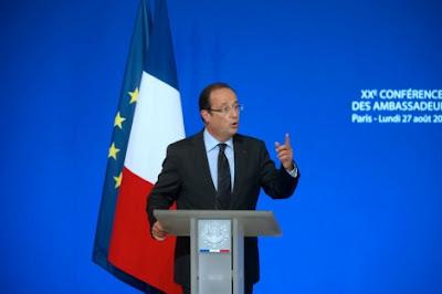 la proxima guerra hollande discurso ante embajadores franceses francia intervendra militarmente siria armas quimicas