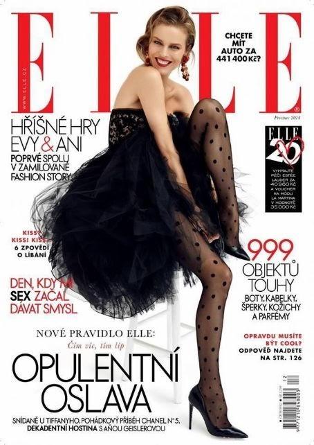 d14097ae337 Elle República Checa Diciembre 2014  Eva Herzigova.