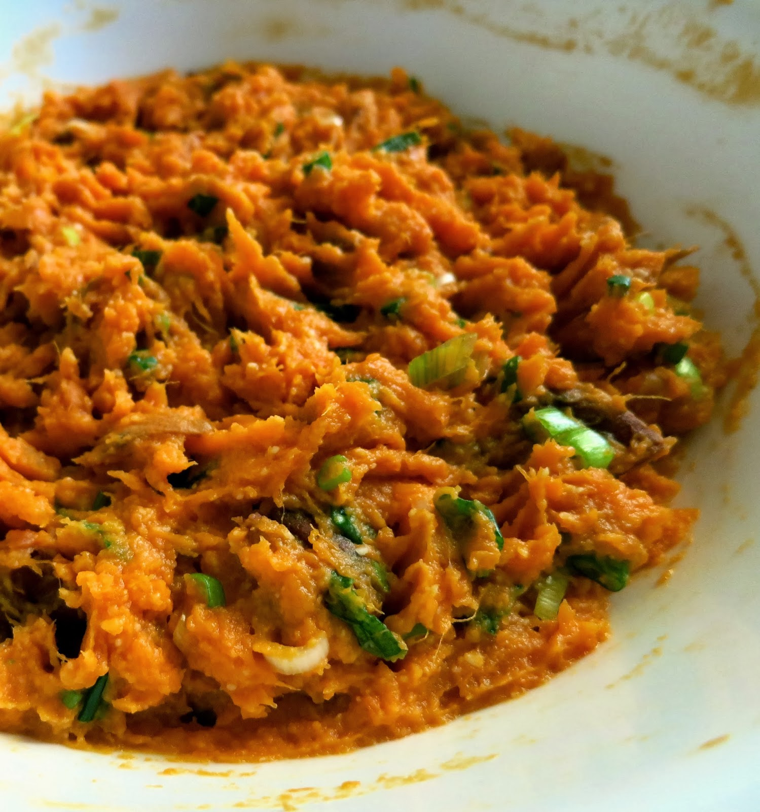 Sweet Potato Green Onion Mash