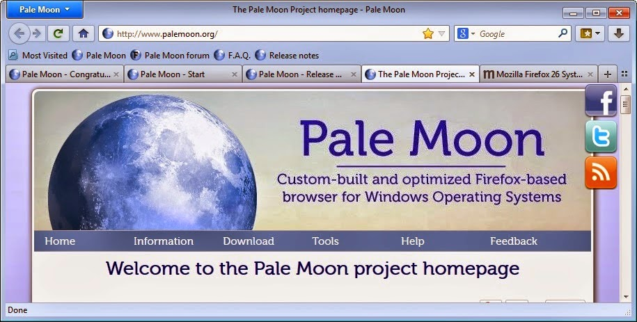 Pale Moon Browser Download Free 2014