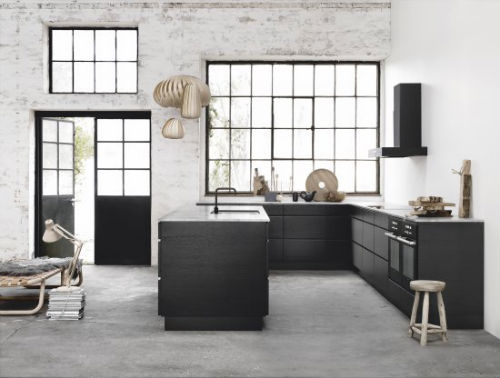Leuchtend Grau Interior-Blog Celebrating Soft Minimalism: Schwarze