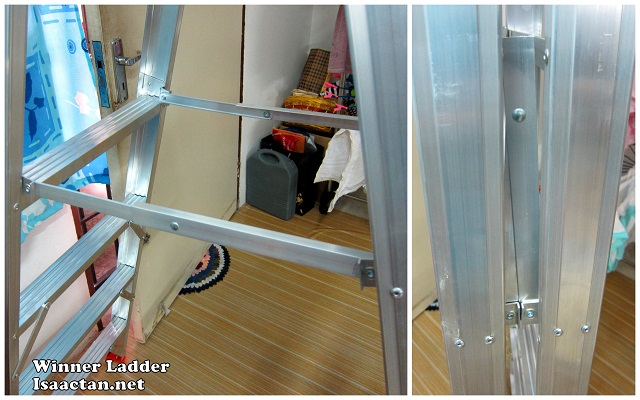 Notice the hinge is mounted on the inner side of the Winner Ladder