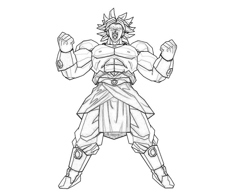 broly coloring pages - photo#7