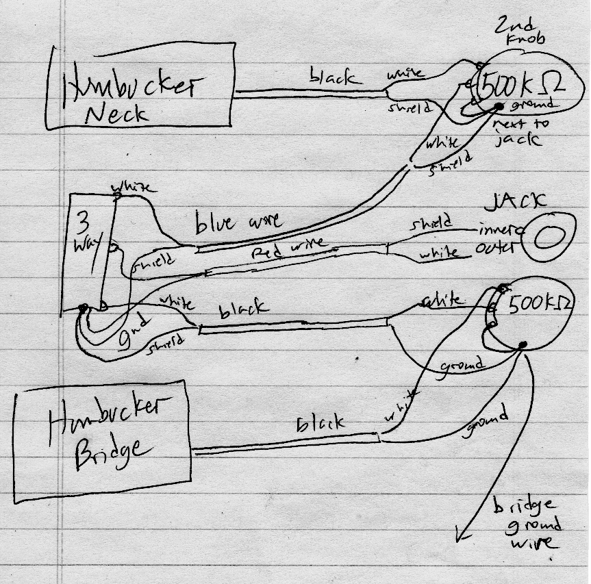 geek versus guitar a squier super sonic wiring diagram anyway there it is click for a larger version i hope this is clear enough the super sonic is a bit odd it has two humbuckers a 3 way switch neck