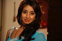 Sanjana, Hot, In, Blue, Saree