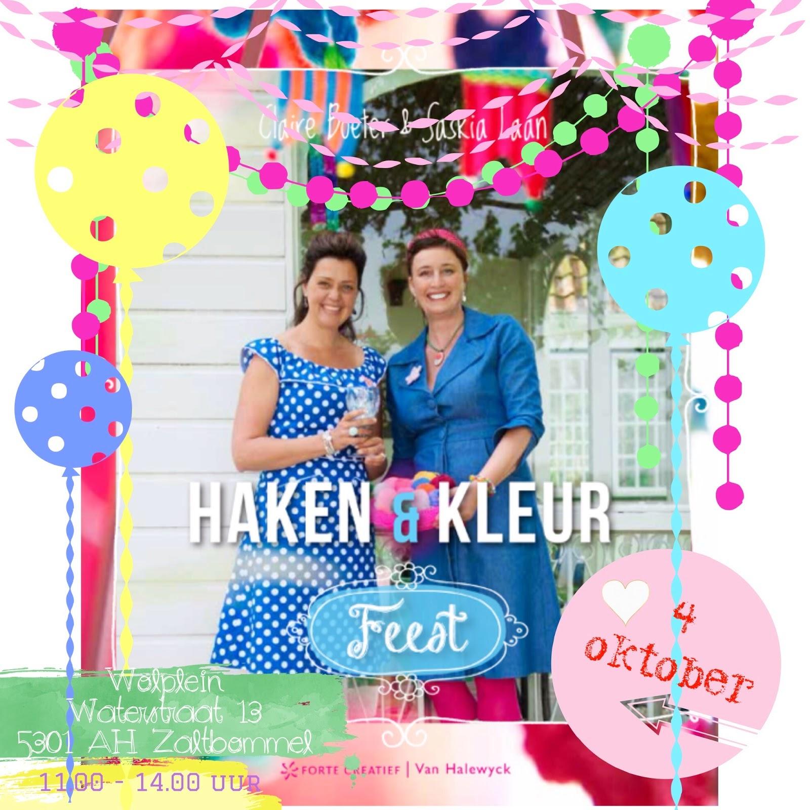 Boeklancering Haken&Kleur Feest!