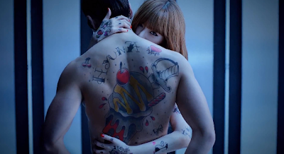 Hyuna  Ice Cream name tattooed on guy's shoulder
