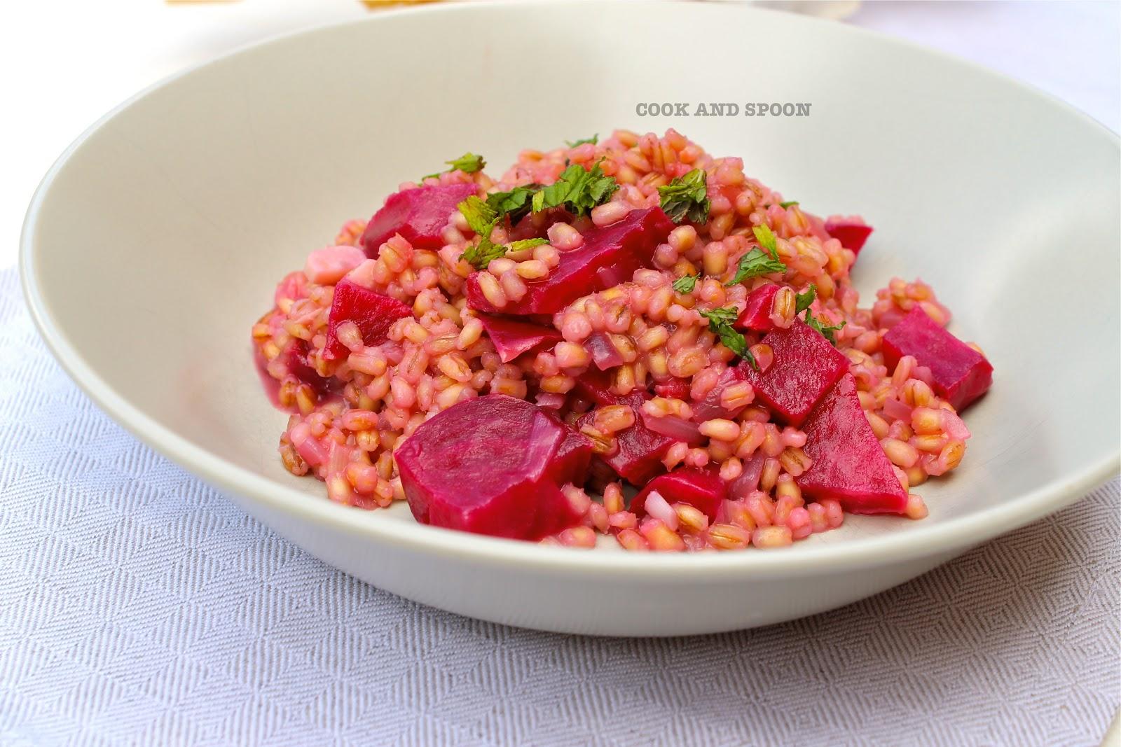 Cook spoon risotto de cebada y remolacha asada for Cocinar remolacha