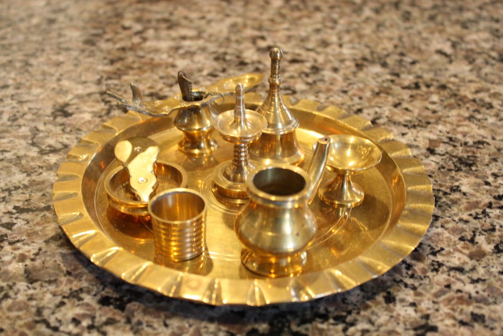 hindu puja tray