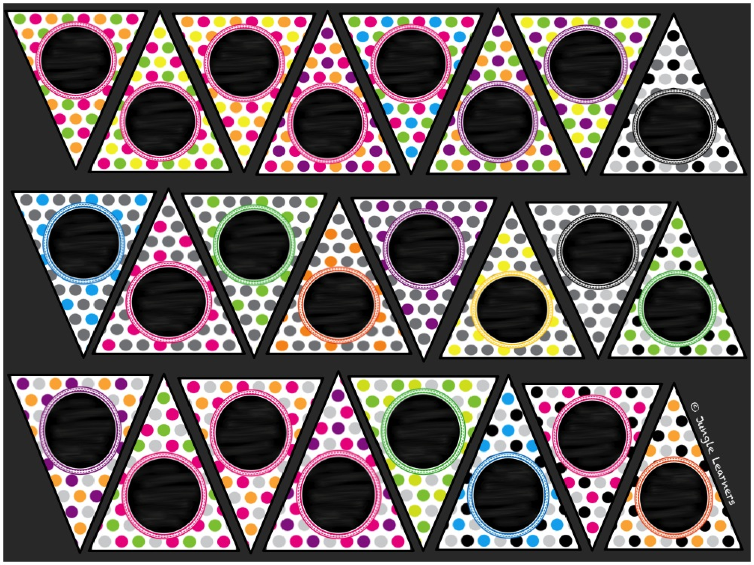 http://www.teacherspayteachers.com/Product/24-Editable-Polka-Dot-Banners-827317