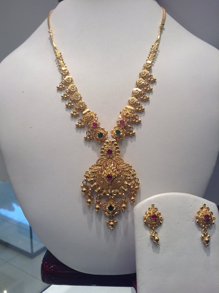Jewellery Designs Simple Designer Gold Necklace Jewellery Sets