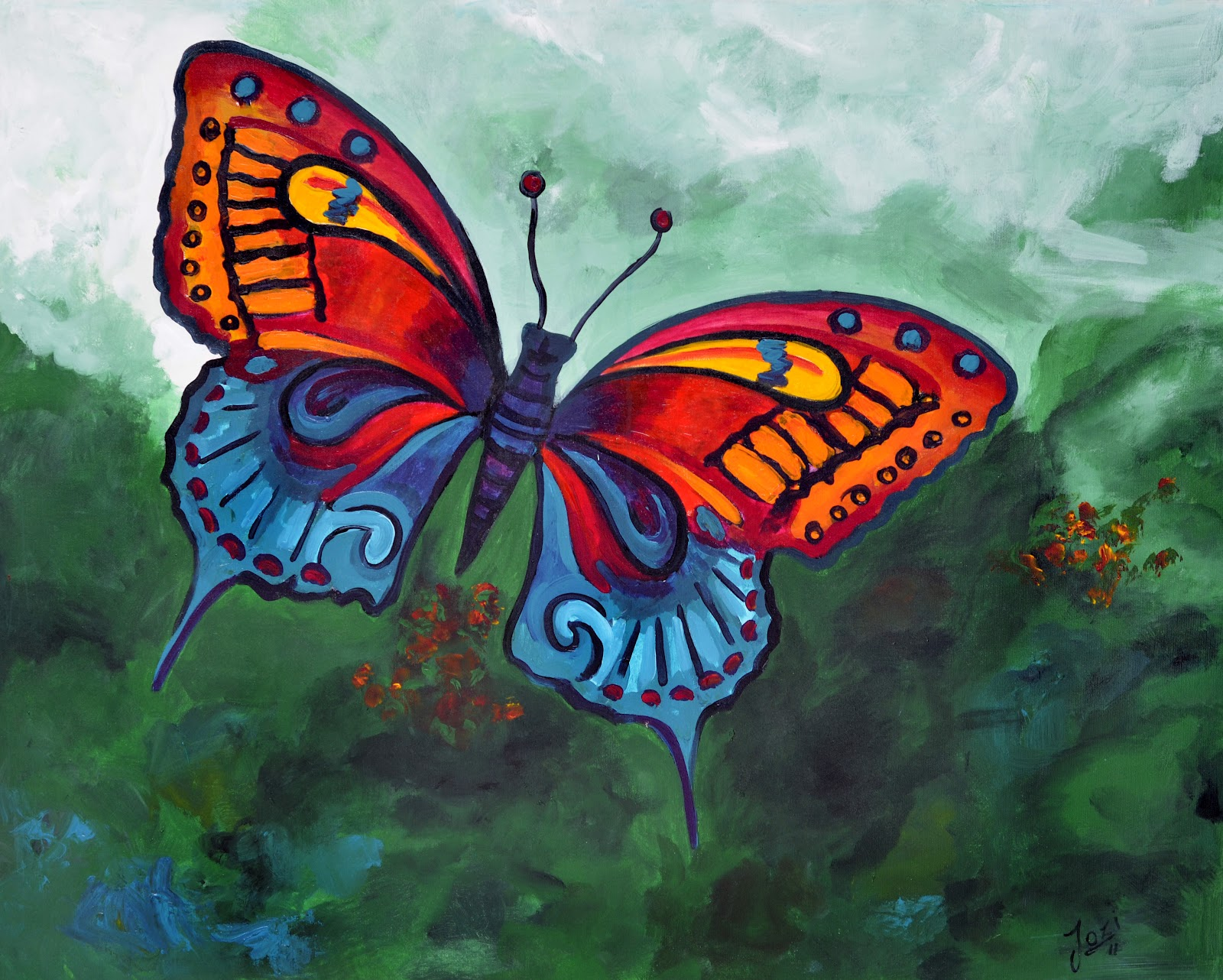 acrylic ``butterfly`` | ``Visual art``