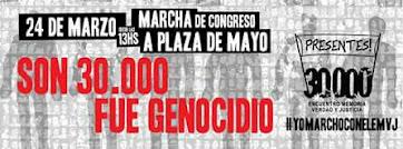 #MARCHAMOS CON EL ENCUENTRO MEMORIA, VERDAD Y JUSTICIA