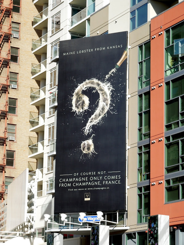 Champagne only comes from Champagne billboard