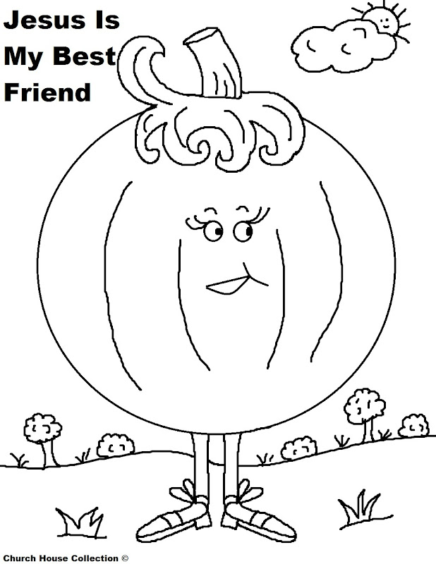 Pumpkin+Coloring+Page+For+Sunday+School+Kids+Jesus+Is+My+Best+Friend  title=