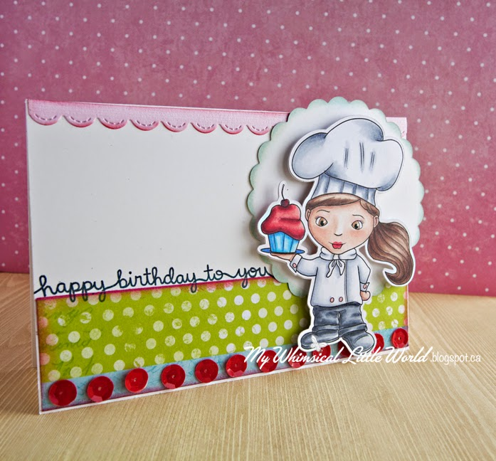 digi stamp, chef, baker, card, digital stamp, my whimsical Little world , stamp, cupcake