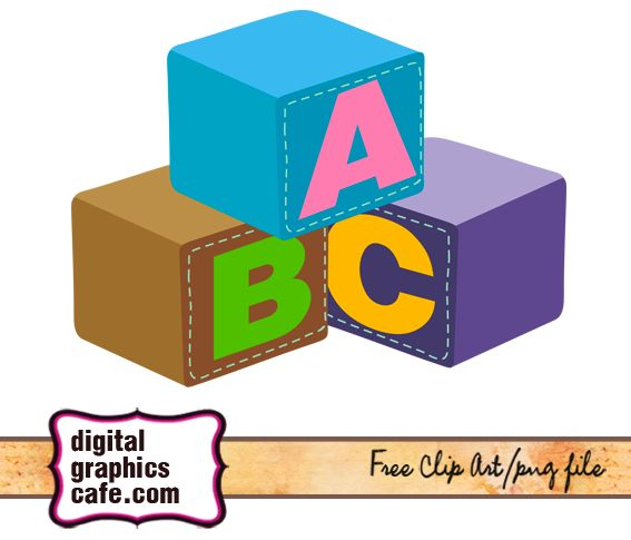 building blocks baby clipart