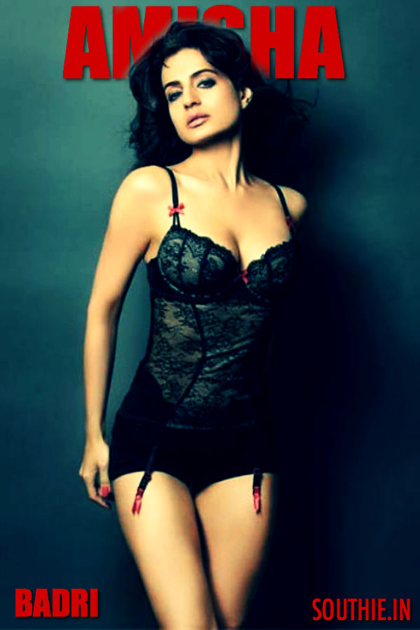 After her stupendous debut with Kaho Naa Pyar Hai, She was instantly cast opposite Pawan Kalyan in Badri. Hot Amisha Patel, Hot Amisha Patel, heroine of Puri Jagannadh, Puri Jagannadh Heroine, Pawan Kalyan Badri, Powerstar Pawan Kalyan,