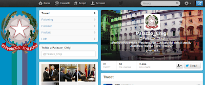 governo twitter palazzo chigi