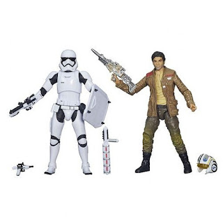Star Wars The Force Awakens Black Series 6 inch box set First Order Riot Control Stormtrooper X-Wing pilot Poe Dameron Rebellion Rebel