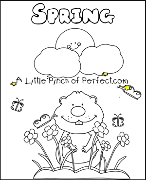 groundhog day coloring pages - groundhog day free printables coloring pages a little