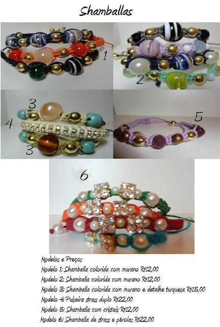 Shamballas coloridas com murano e pérolas