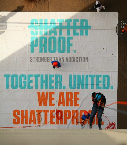 strongerthanaddiction shatterproof rappel event Oct 6