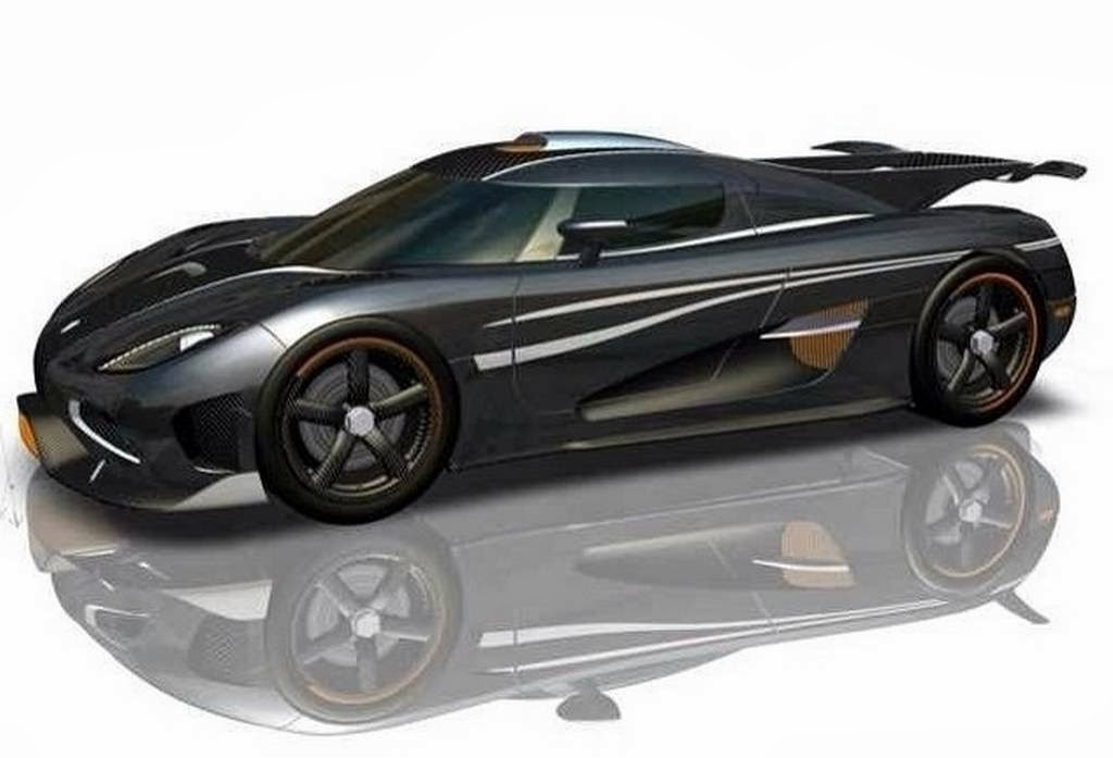 Super sports car speeding Koenigsegg One