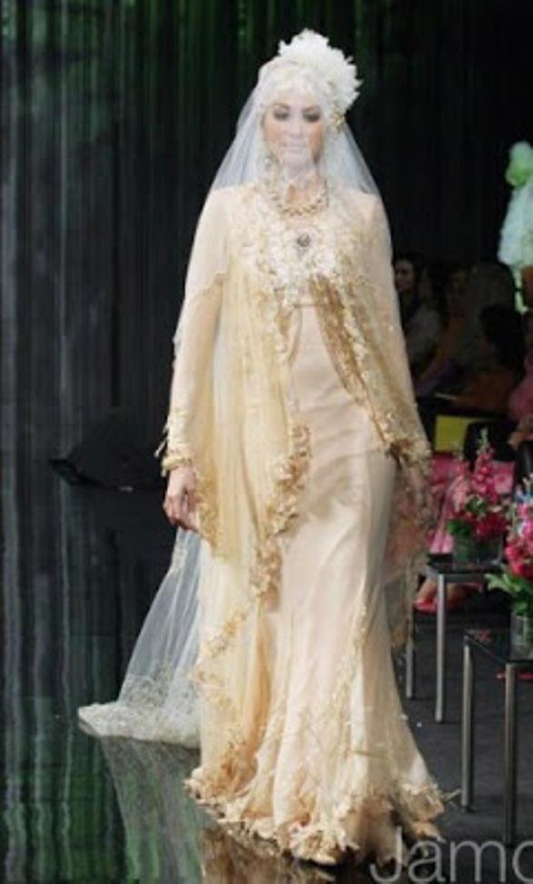 gaun pernikahan muslimah - contoh desain model kebaya muslim modern