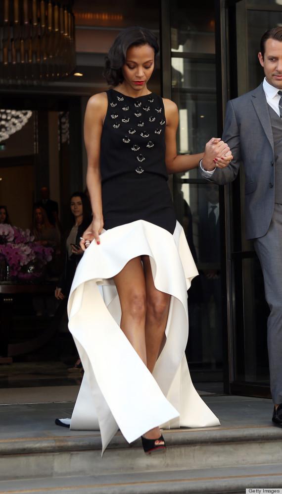 Dannydigit Command Pr Style Star Zoe Saldana Wardrobe Malfunction On The Red Carpet Of Quot Star
