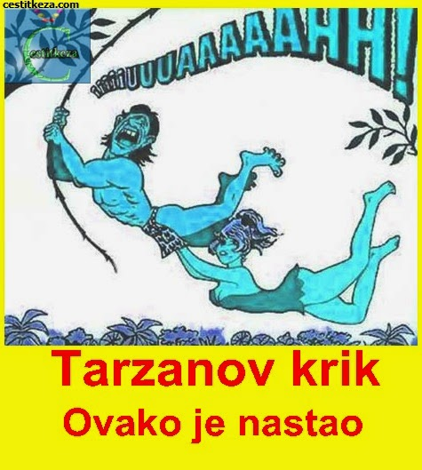 tarzanov krik duhovita fotografija