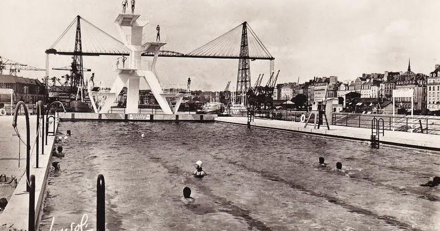 Nantes la ville d 39 apr s guerre nantes ile gloriette la for Piscine gloriette