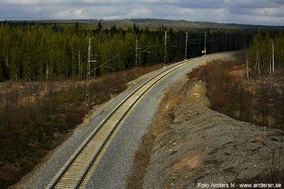 järnväg Norrland uppehåll i myrlandet