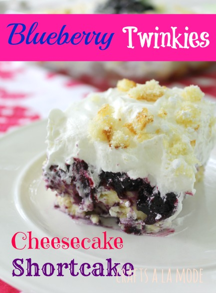 Blueberry Twinkies Cheesecake Shortcake