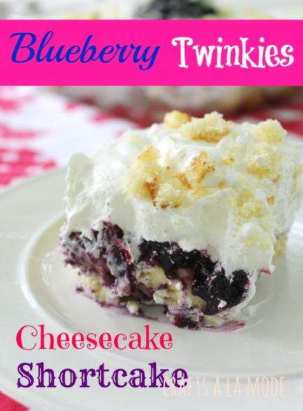 Blueberry Twinkies Cheesecake Shortcake