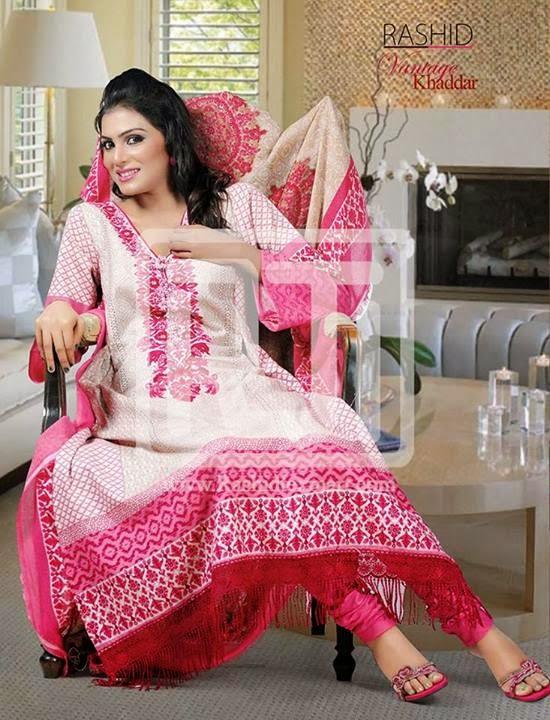 Vantage Khaddar Colorful Suits 2013-2014 By Rashid Textile