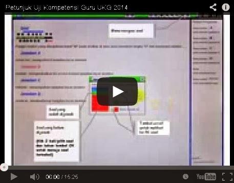 Petunjuk Teknis Peserta UKG Sertifikasi Guru 2014