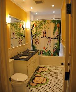 kamar+mandi+anak+kecil+warna+kuning Desain kamar mandi kecil cantik untuk anak anak