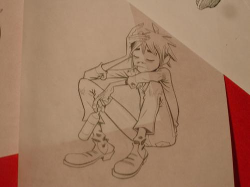 Scribble Junkies Jamie Hewlett Sketches..