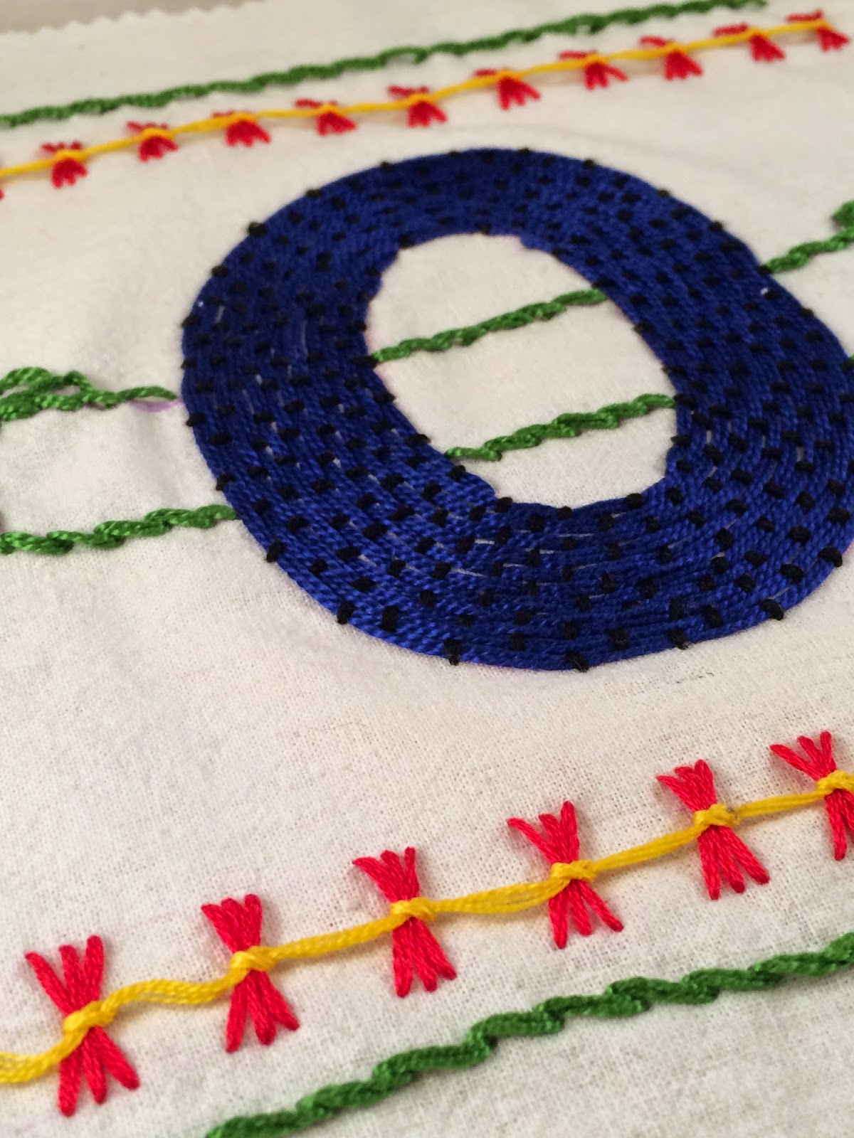 Pi embroidery