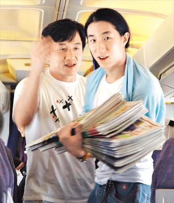 Jackie Chan and his Son Jaycee Chan Seen On www.coolpicturegallery.us