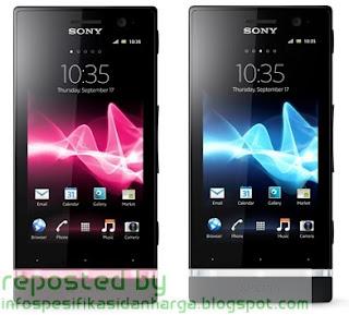 Spesifikasi Sony Xperia U Hp Terbaru 2012