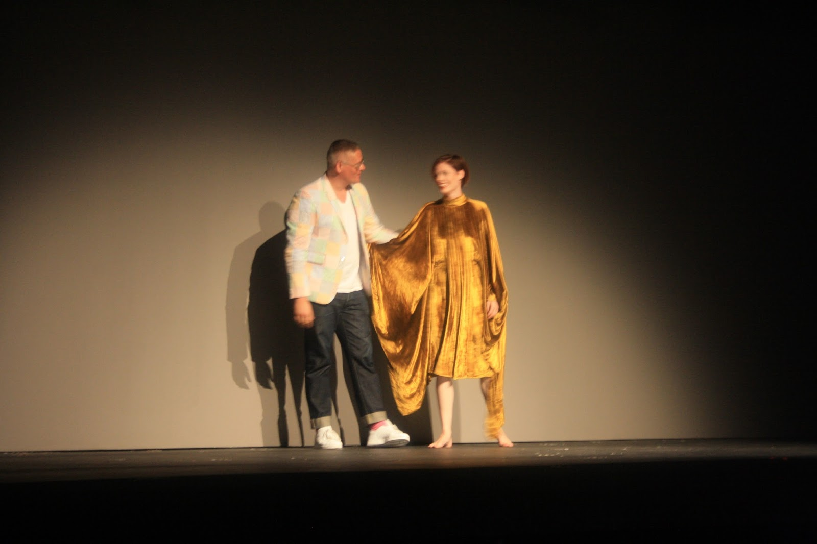 Designer Giles Deacon and Coco Rocha