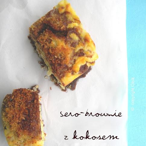 Sero- brownie z kokosem