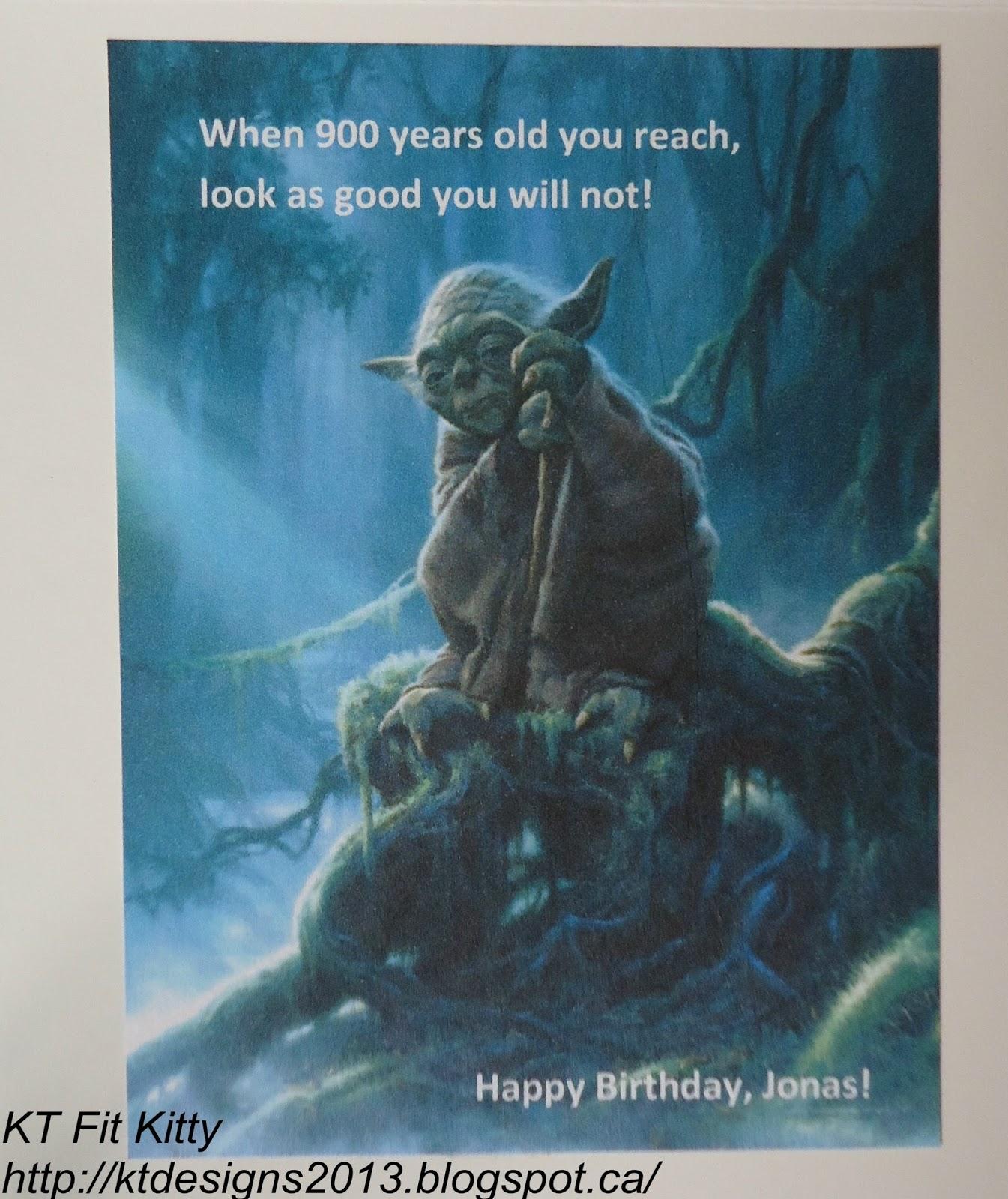 KT Fit Kitty: Yoda Birthday Card (for Jonas