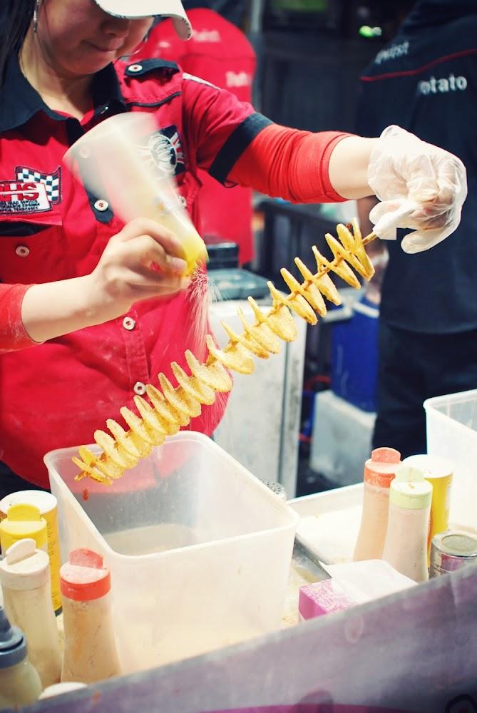 Chinatown Night Markets Sydney Food Potato Spiral Chip